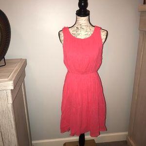 Alice & Olivia pink silk embellished dress m